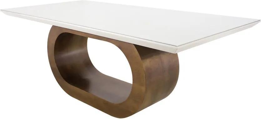 Mesa De Jantar BarolloCom Vidro - Wood Prime DS 34175 1.60 x 0.90