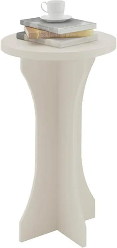 Mesa de Apoio Dorica 100% MDF Redonda Off White