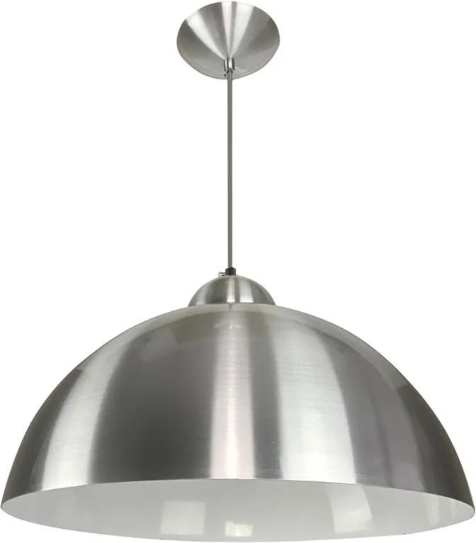 Pendente Esfera 40cm Escovado/Branco - Caisma - 3714-ES/BR