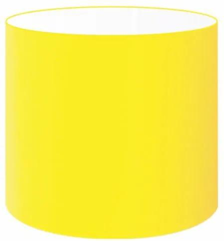 Cúpula Abajur Cilíndrica Cp-7005 Ø18x18cm Amarelo
