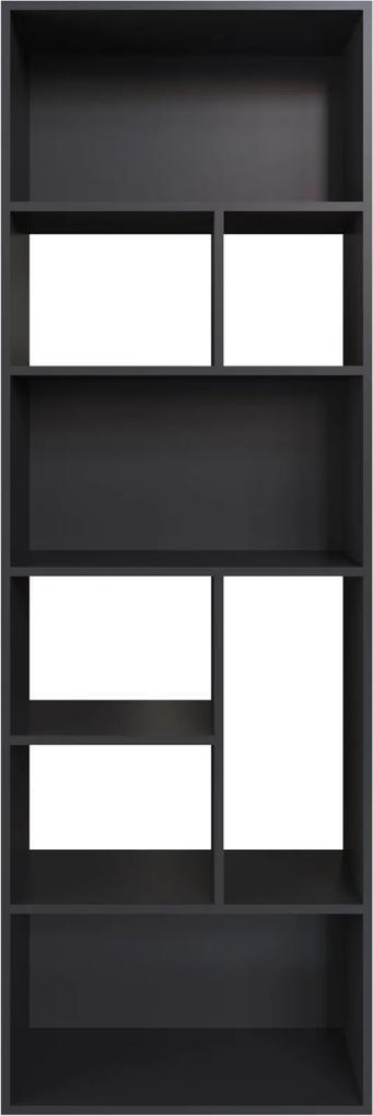 Estante Multiuso 180cm Modern Office 8 nichos Preto Estilare