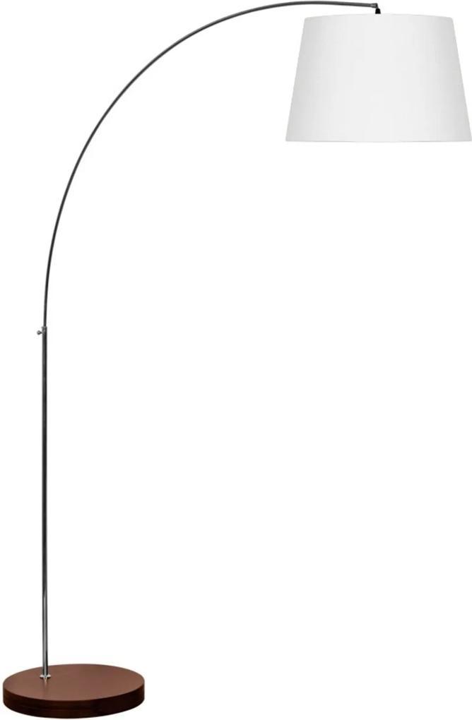 Luminária de Coluna 1,80x15cm Wengue e Branco 589.12 Trevisan