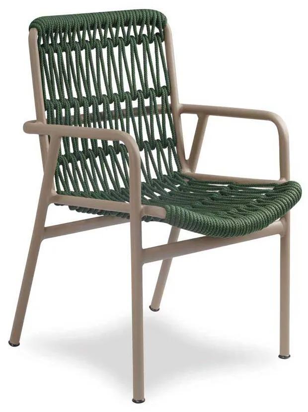 Cadeira Vino Área Externa Trama Corda Náutica Estrutura Alumínio Eco Friendly Design Scaburi