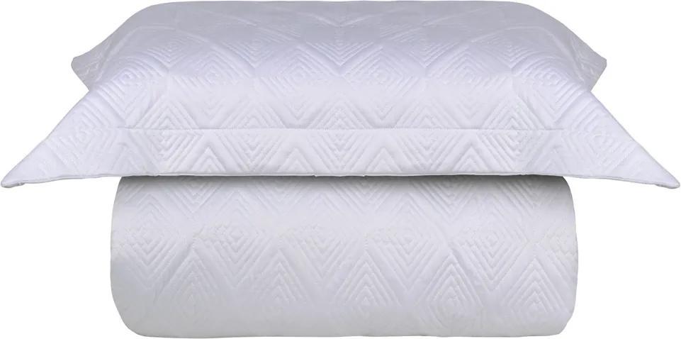 Kit Colcha Casal Mini Check Branco 300 Fios – Naturalle Fashion