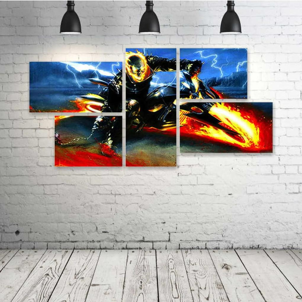 Quadro Decorativo - Dark-Art-Artwork-Fantasy-Artistic-() - Composto de 5 Quadros