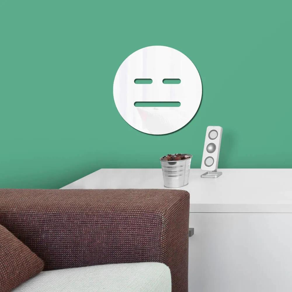Espelho Decorativo Emoji Ciúmes