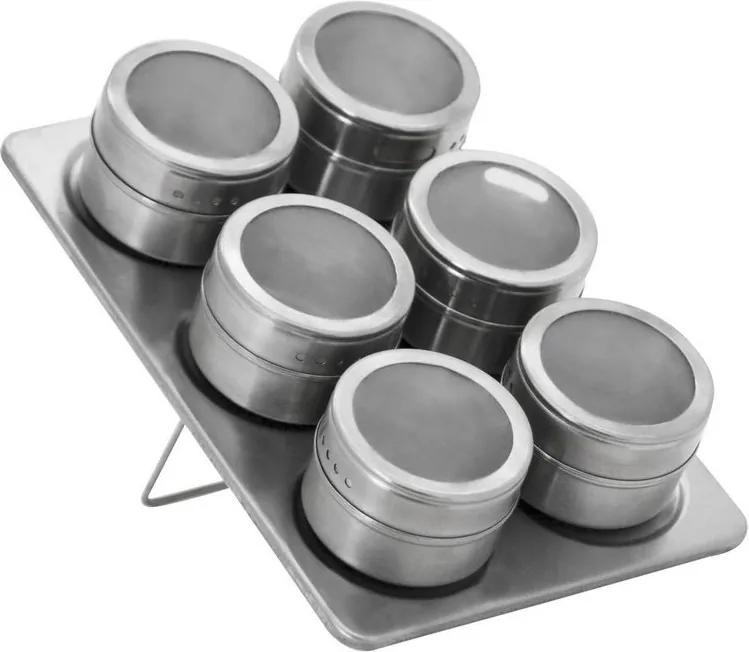 Jogo de 6 Portas Condimentos Inox - Mimo Style