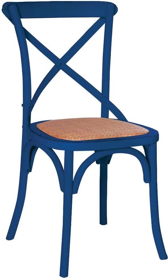 Cadeira Katrina Rústica Azul