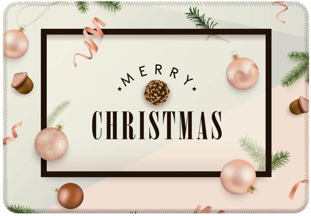 Tapete Sala Love Decor Merry Christmas  Rosa