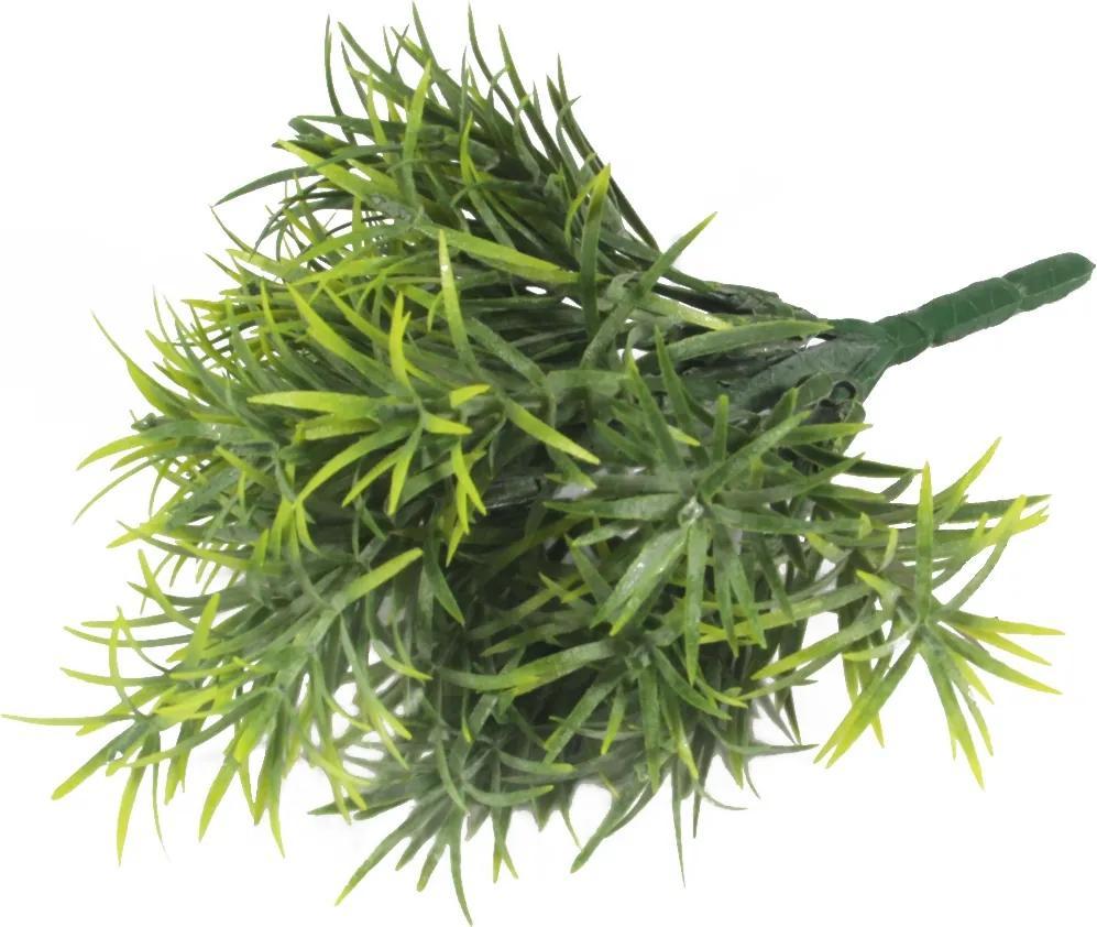 Mini Folhagem Artificial Verde Buquê de Complemento 18cm