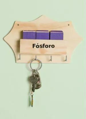 PORTA FÓSFOROS E CHAVES