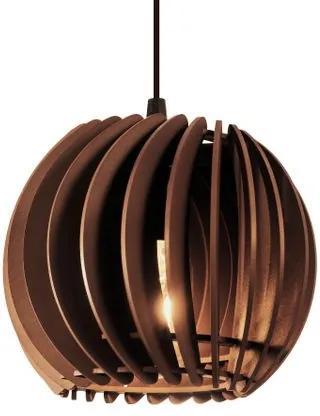 Pendente de madeira | 21x19cm | Chocolate | Mod: Tulipa