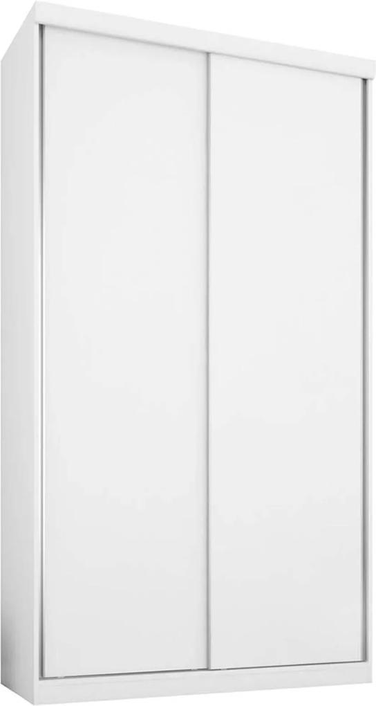 Guarda-Roupa 2 Portas 3 Gavetas Virtual 120 Branco-Maderado Robel Móveis