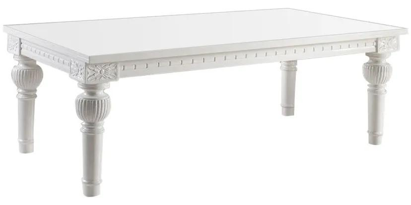Mesa de Jantar Gomo 2.30 x 1.20 com Vidro - Wood Prime LN 13031