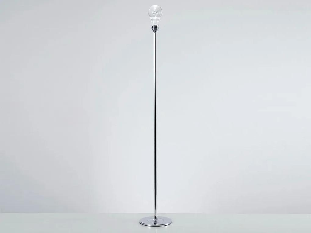 Luminária de Chão Shane em Metal Cromado/Transparente