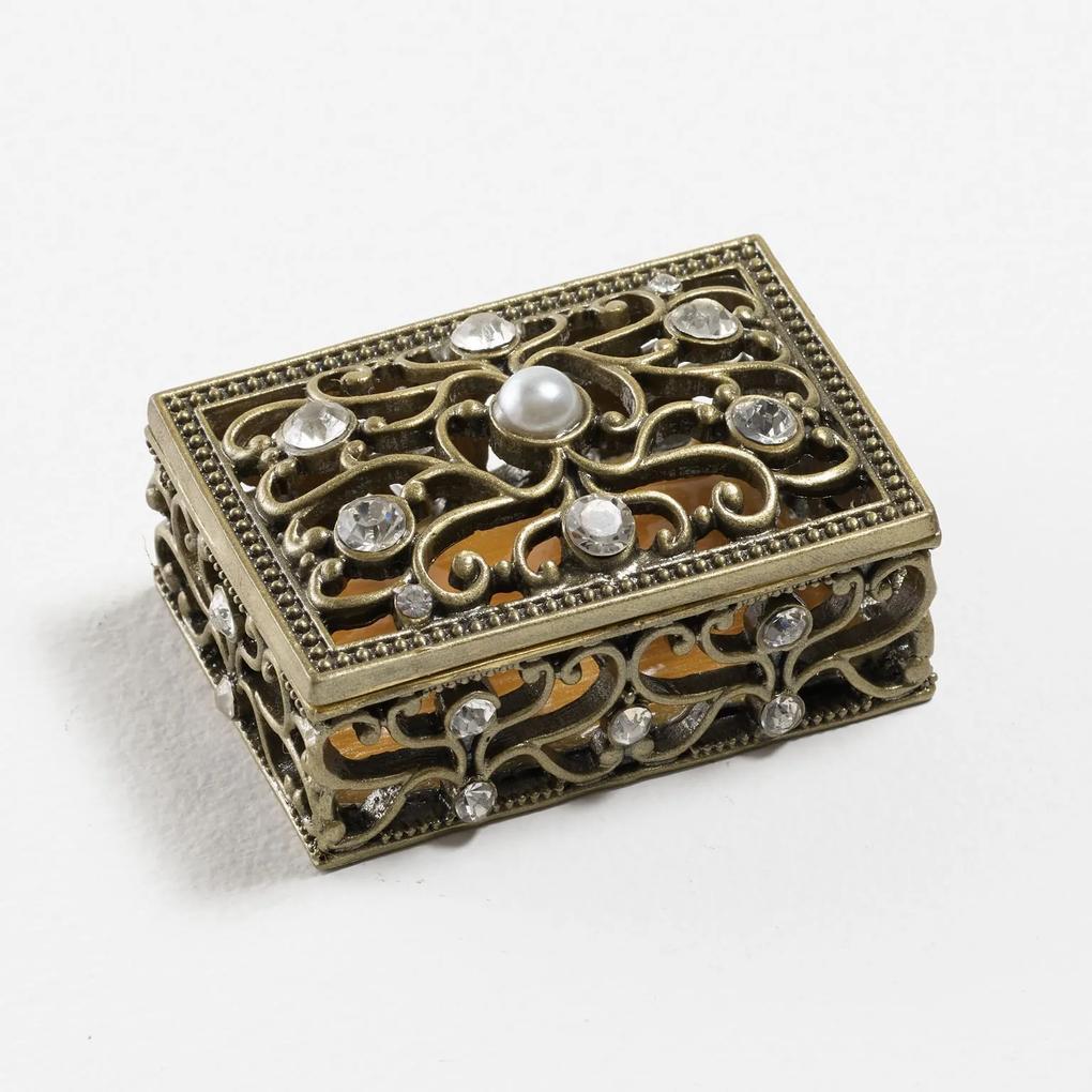 Caixa Decorativa com Pedraria Exuberante