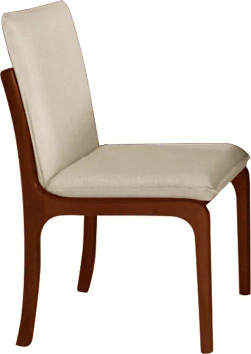 Cadeira Perséfone Estofada Facto Bege / Pinhão