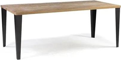 Mesa de Jantar Colorado em Madeira Maciça e Aço 140cm Driftwood