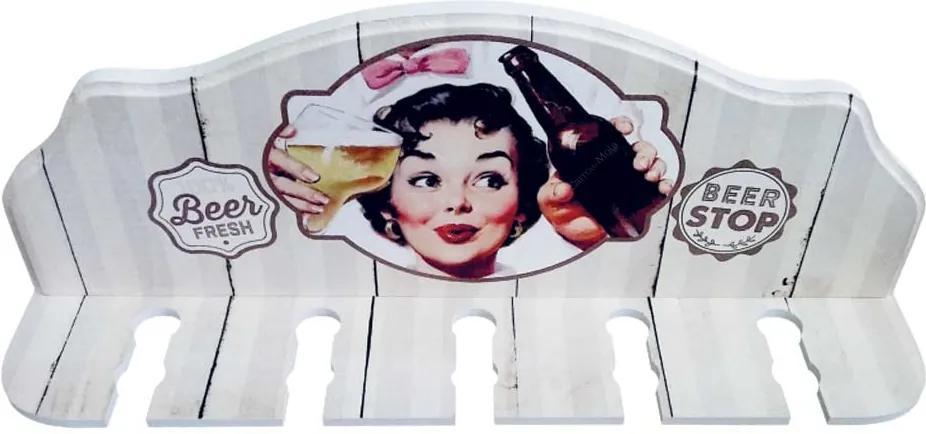 Porta-Espeto Beer Fresh Branco em Madeira