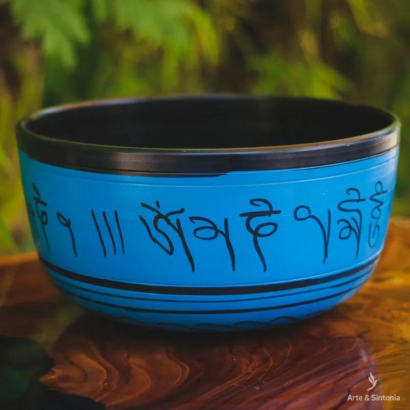 Tigela Tibetana 4 Metais Azul