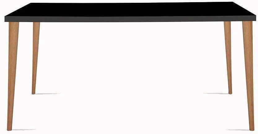 Mesa Eames 135cm Preto/Castanho - Daf Mobiliário