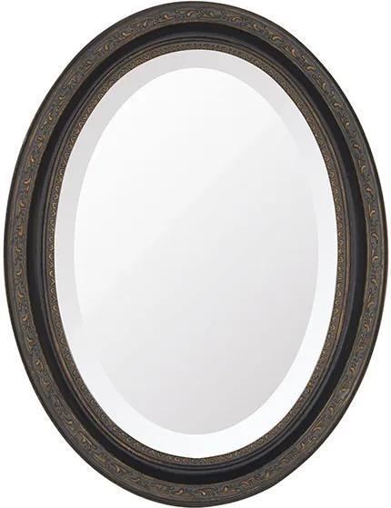 Espelho Oval Bisotê Marrom Rustico Pequeno