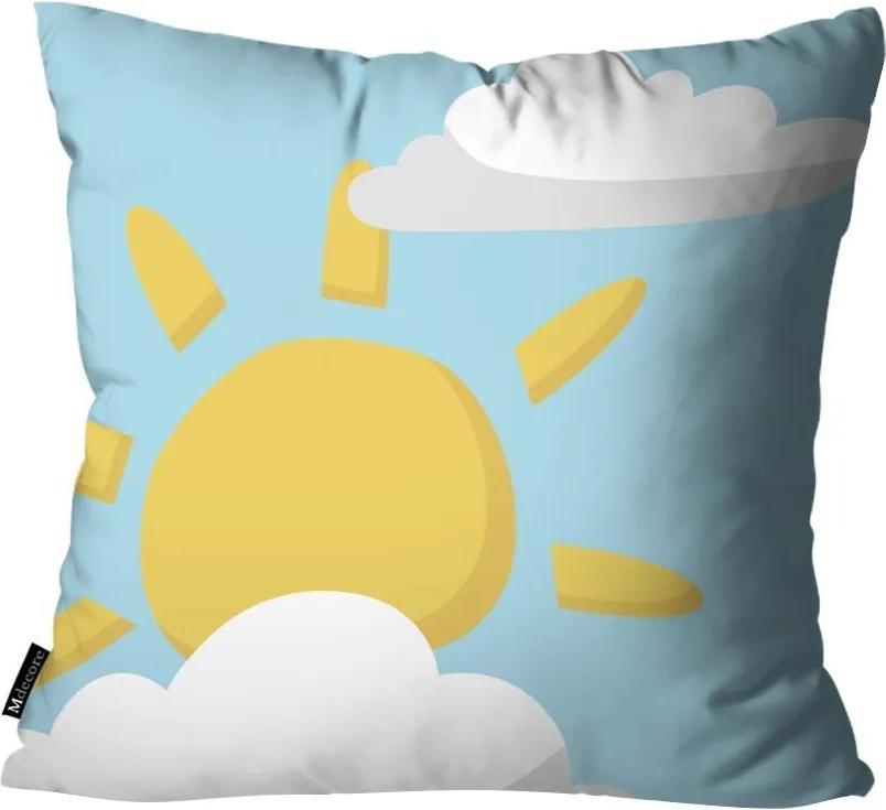 Capa para Almofada Infantil Sol Azul45x45cm