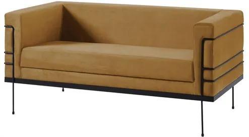 Sofa Le Corbusier Caramelo Base Aco Preto 2 Lugares - 50362 Sun House