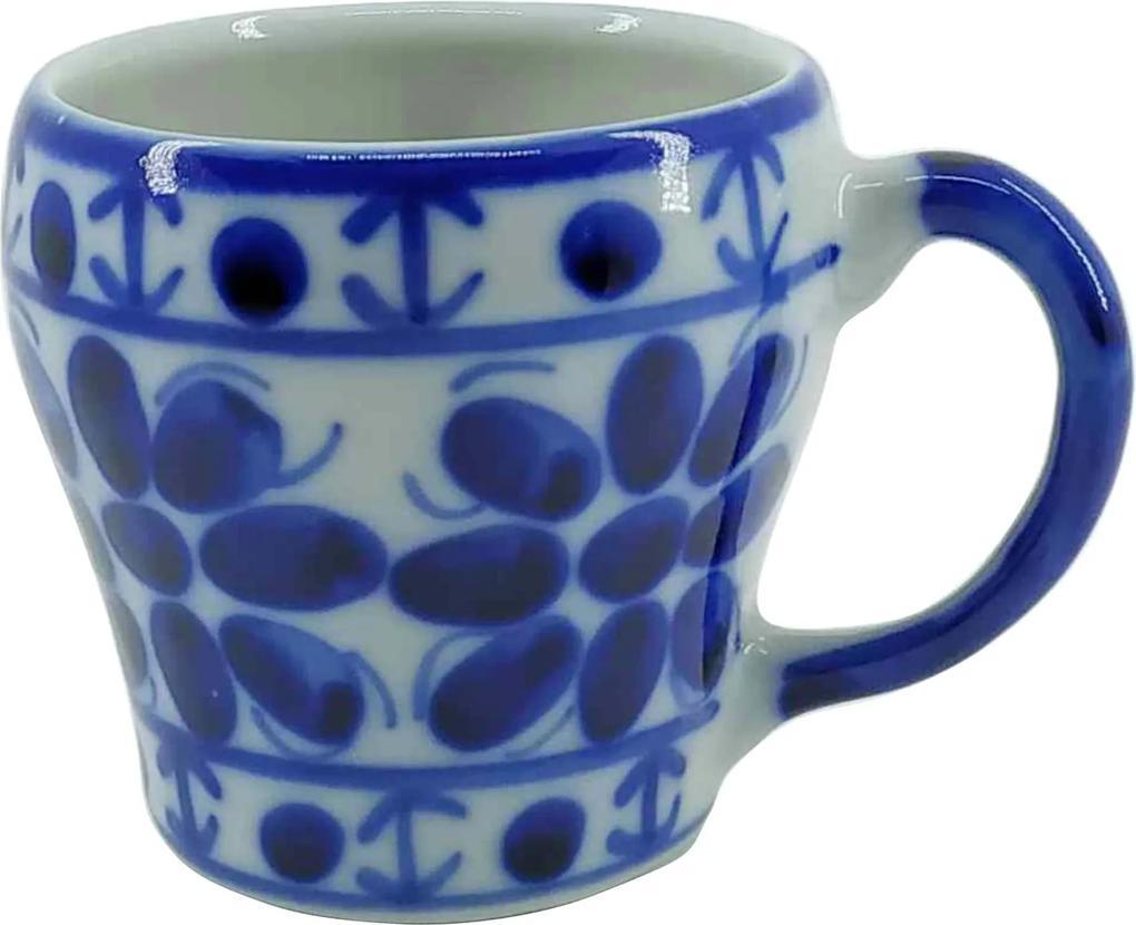 Caneca de Porcelana Azul Colonial 200 ml