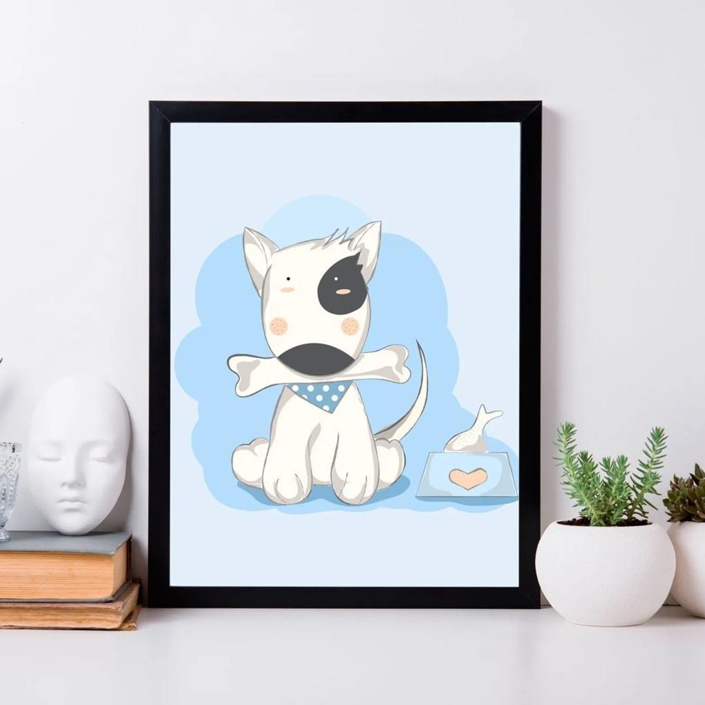 Quadro Decorativo Infantil Dog Baby Preto - 20x25cm