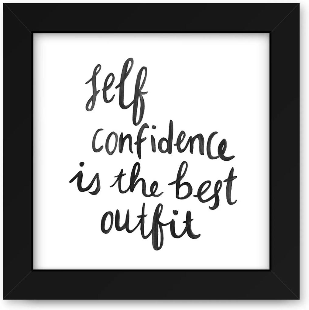 Quadro Adoraria Self Confidence Preto