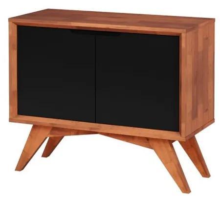 Buffet Uriel 2 Portas Natural e Preto - Wood Prime MP 27559