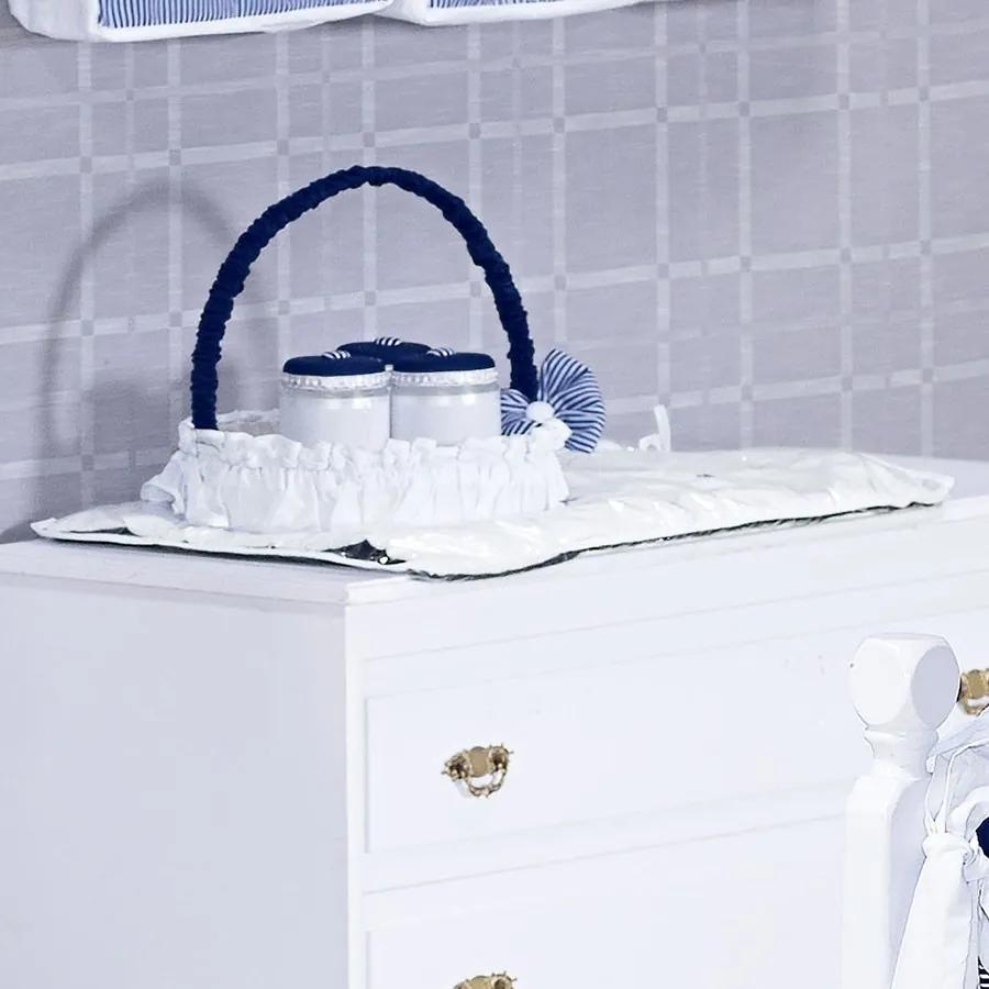 Trocador Enxoval Bebê Menino Príncipe Azul