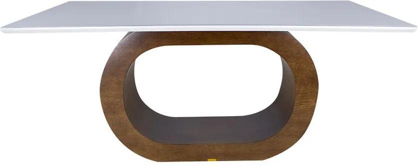 Mesa De Jantar Barollo 180x100 cm Capuccino e Fendi - Wood Prime 38096