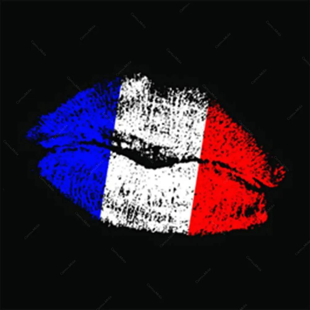 Tela Mouth Preto Azul Branco e Vermelho em MDF - Urban - 60x60 cm