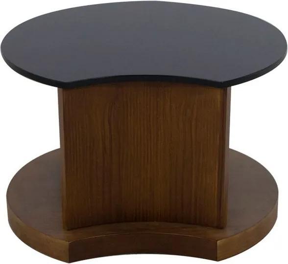 Mesa de Centro Lotus Imbuia com Preto - Wood Prime PTE 10743
