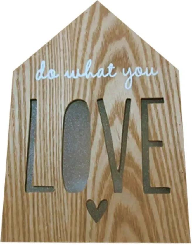 Luminária Decorativa de Madeira Luz Led - Do What You Love