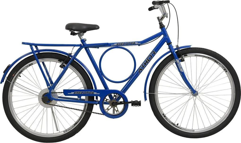 Bicicleta Aro 26 V-Brake Executiva Azul Athor Bikes