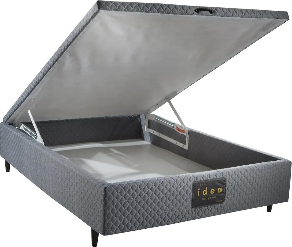 Base para Cama Box Casal com Baú MH 1800 Black Idea 138x46x188 - Herval
