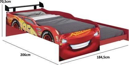 Bicama Infantil Carros Disney Fun Vermelho - Pura Magia