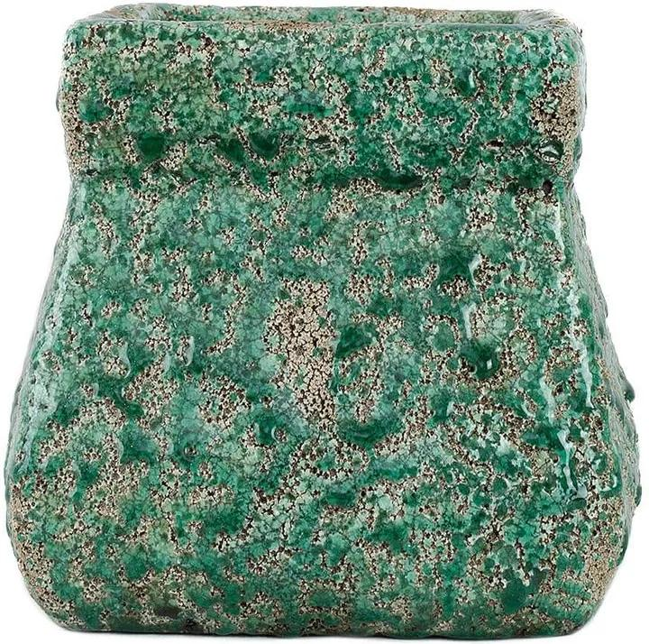 Cachepot Ceramica Rustica Verde G