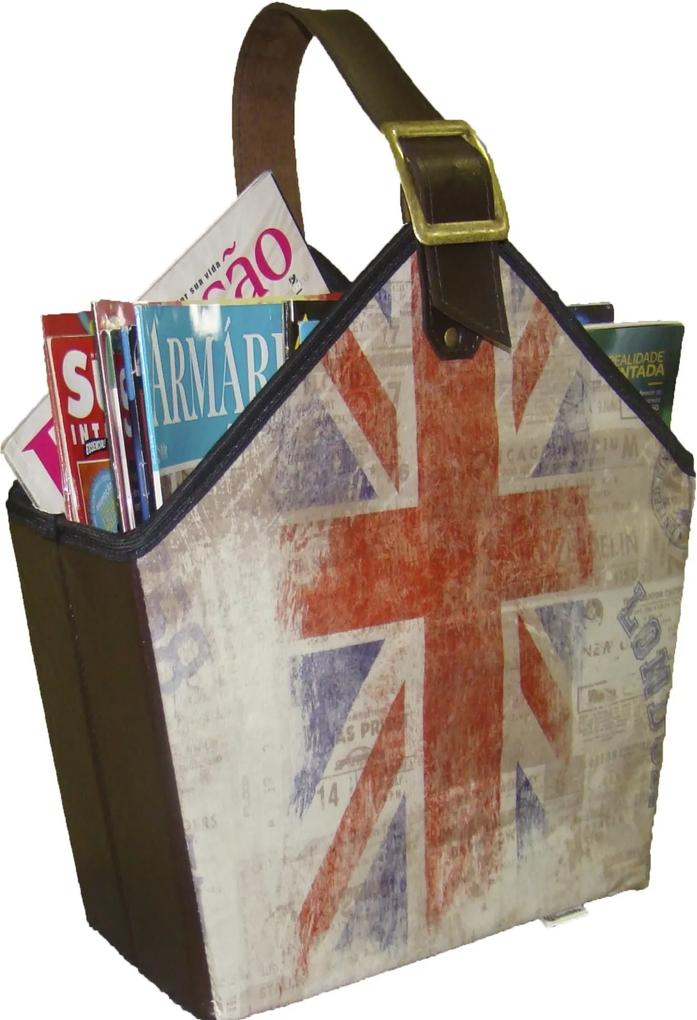 Cesto Organibox Revisteiro - Londres 39x35x16