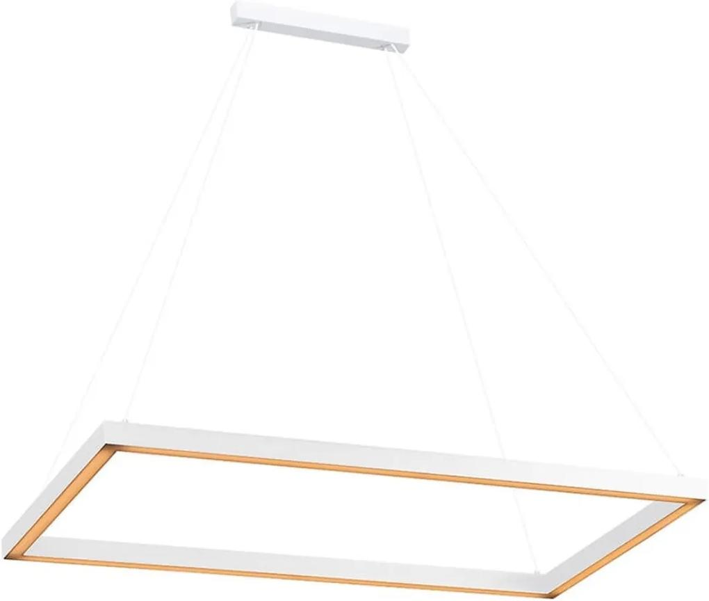 Pendente Aluminio Branco Led 23,1w 3000k Fit