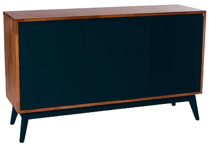 Buffet Safira 3 Portas Preto - Wood Prime MP 1041592