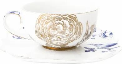 Xícara de Chá com Pires Royal White PIP Studio