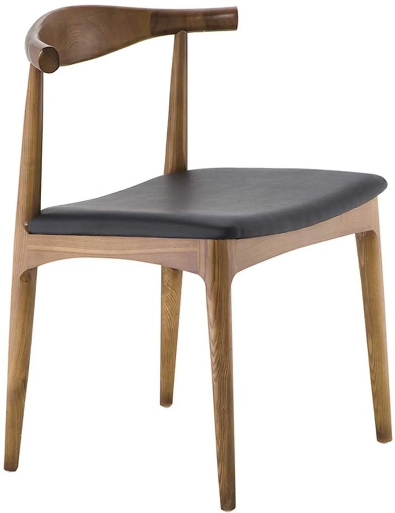 Cadeira Carina Madeira Natural Rivatti Marrom/Preta