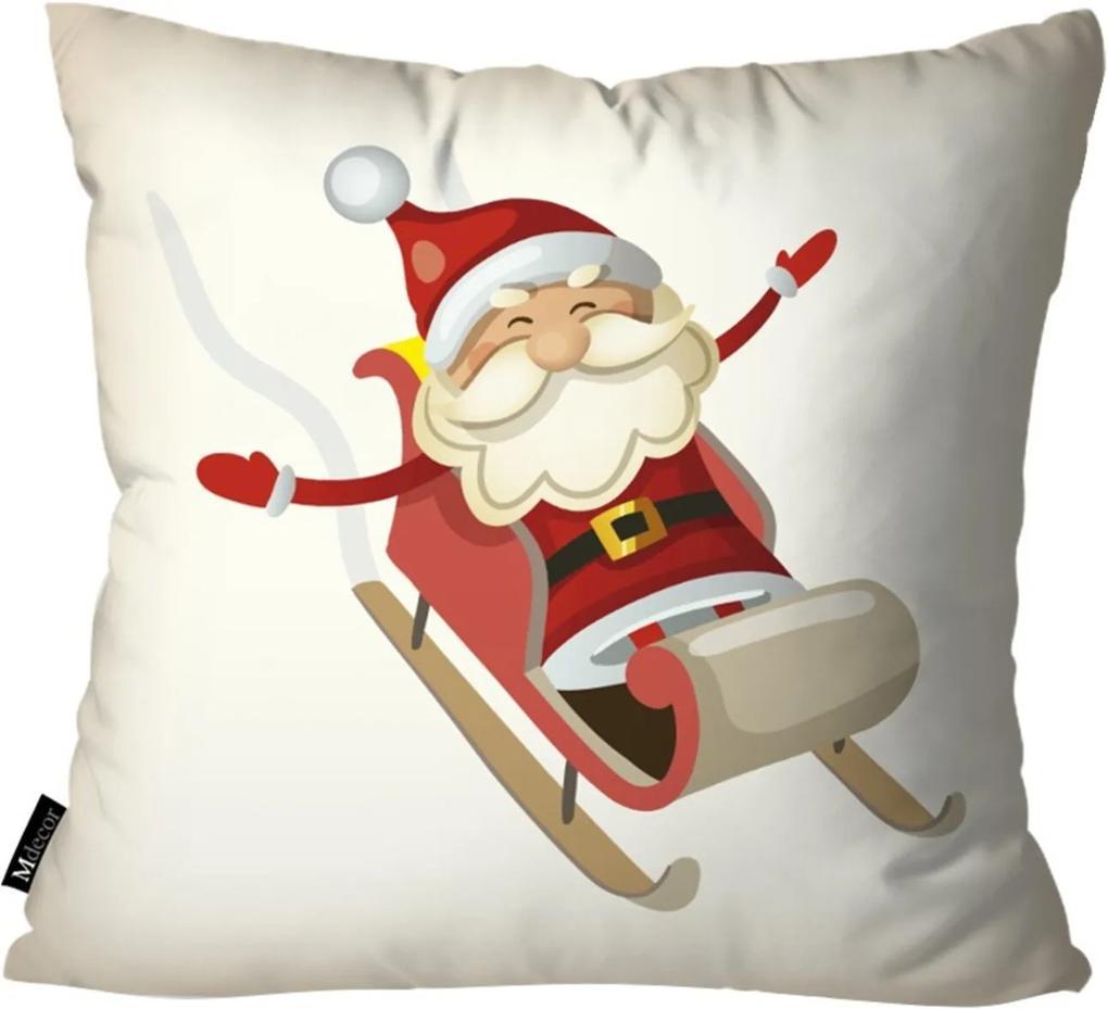 Capa para Almofada Mdecore Papai Noel Bege 35x35