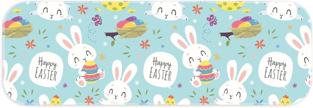 Passadeira Love Decor Páscoa Happy Easter Azul