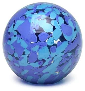 Peso Multicor Grande Bola Azul e Água-marinha Murano Cristais Cadoro
