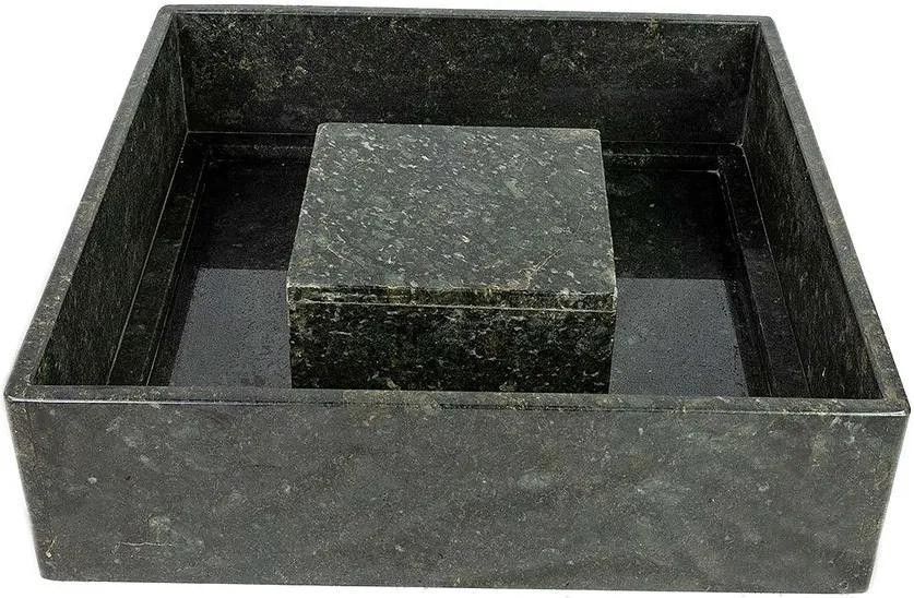 Base para Fonte Pequena Granito Preto (Verde Ubatuba) 70 cm